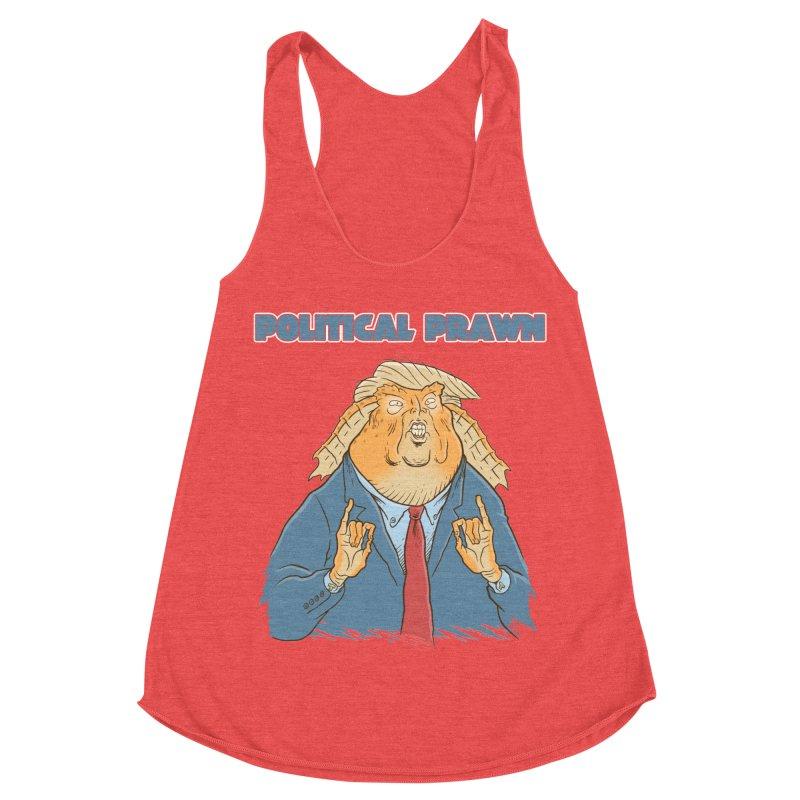 Political Prawn (Jar Jar Trump) Women's Racerback Triblend Tank by Frankenstein's Artist Shop