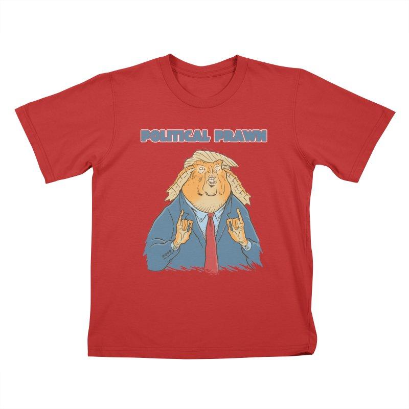 Political Prawn (Jar Jar Trump) Kids T-Shirt by Frankenstein's Artist Shop