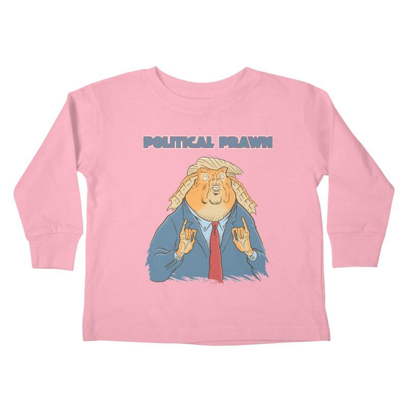 Political Prawn (Jar Jar Trump) Kids Toddler Longsleeve T-Shirt by Frankenstein's Artist Shop