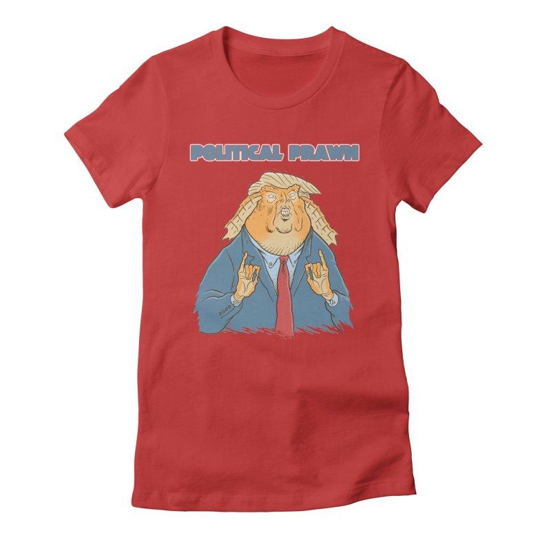 Political Prawn (Jar Jar Trump) Women's Fitted T-Shirt by Frankenstein's Artist Shop