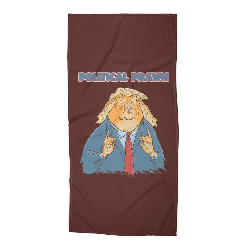 Political Prawn (Jar Jar Trump) Accessories Beach Towel by Frankenstein's Artist Shop