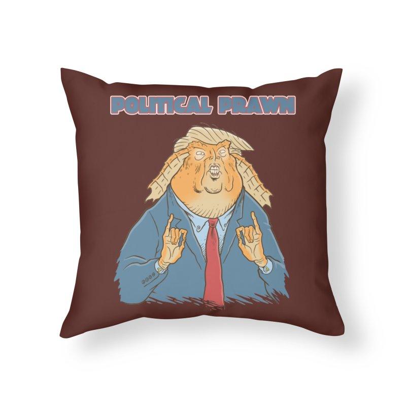Political Prawn (Jar Jar Trump) Home Throw Pillow by Frankenstein's Artist Shop