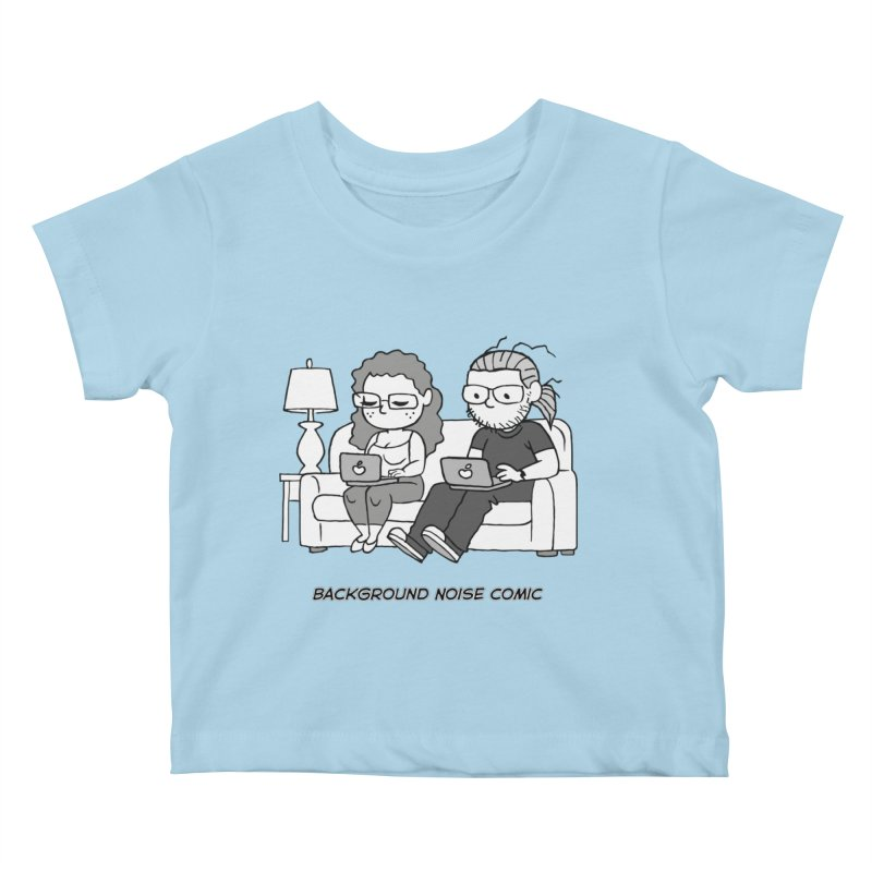 Background Noise Couch Kids Baby T-Shirt by Frankenstein's Artist Shop