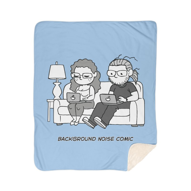 Background Noise Couch Home Blanket by Frankenstein's Artist Shop