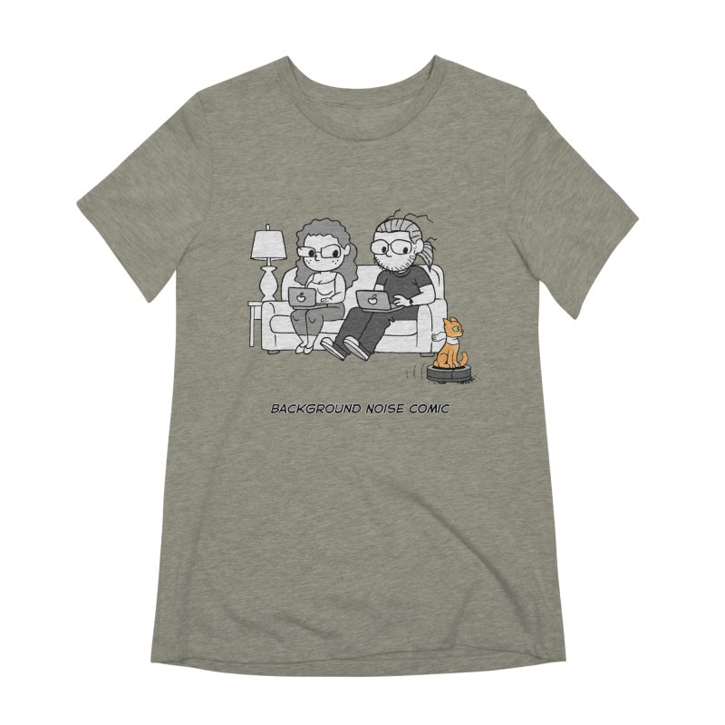 Background Noise Couch (with Danny Cat!) Women's Extra Soft T-Shirt by Frankenstein's Artist Shop