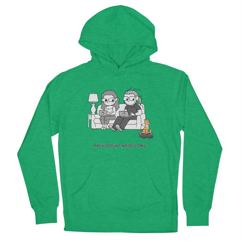 Background Noise Couch (with Danny Cat!) Men's French Terry Pullover Hoody by Frankenstein's Artist Shop
