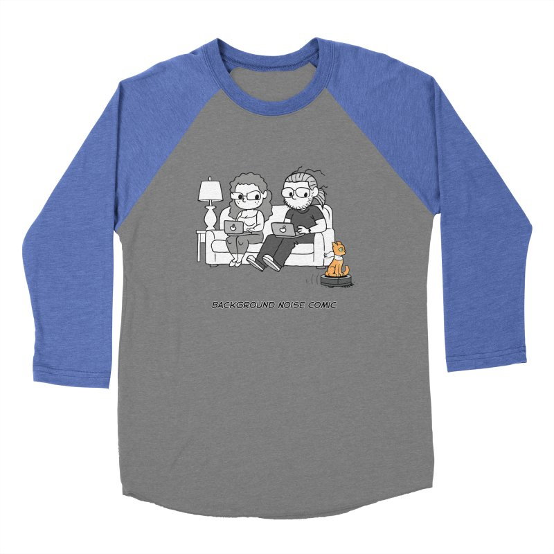 Background Noise Couch (with Danny Cat!) Women's Baseball Triblend Longsleeve T-Shirt by Frankenstein's Artist Shop