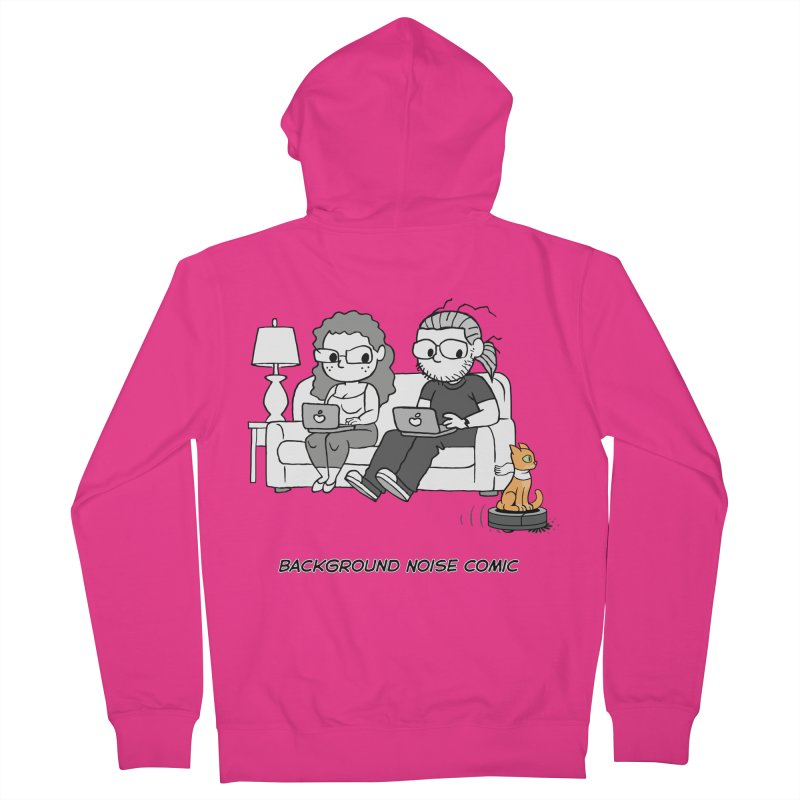 Background Noise Couch (with Danny Cat!) Men's French Terry Zip-Up Hoody by Frankenstein's Artist Shop