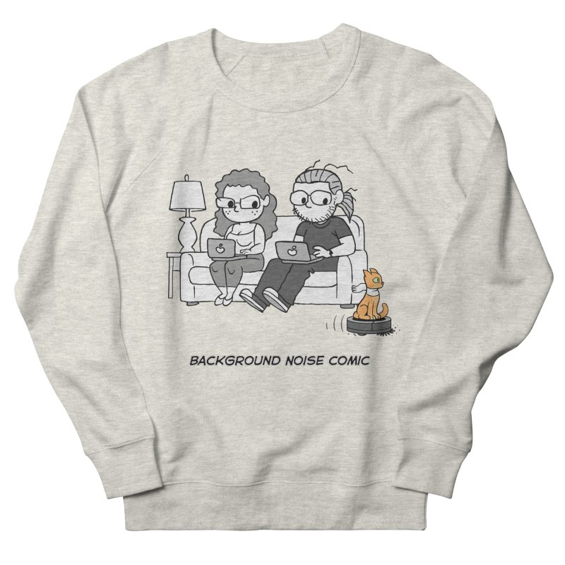Background Noise Couch (with Danny Cat!) Women's French Terry Sweatshirt by Frankenstein's Artist Shop