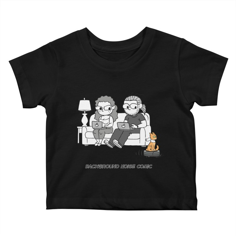 Background Noise Couch (with Danny Cat!) Kids Baby T-Shirt by Frankenstein's Artist Shop