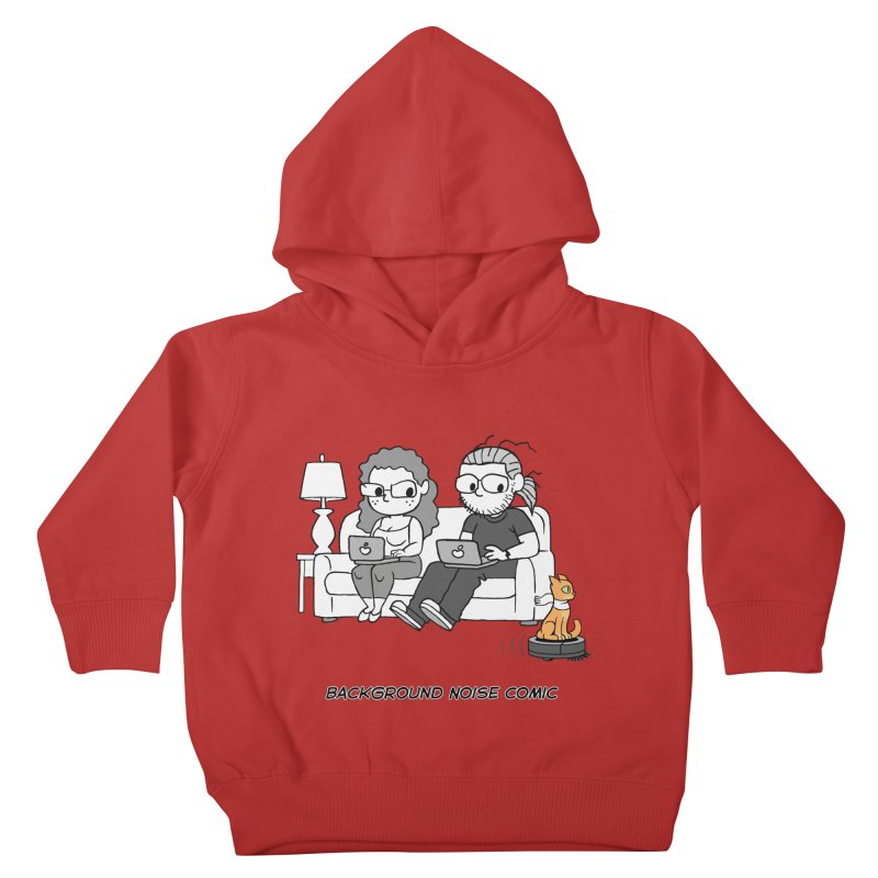 Background Noise Couch (with Danny Cat!) Kids Toddler Pullover Hoody by Frankenstein's Artist Shop