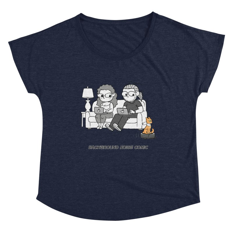 Background Noise Couch (with Danny Cat!) Women's Dolman Scoop Neck by Frankenstein's Artist Shop