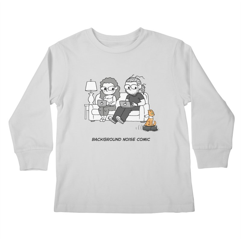 Background Noise Couch (with Danny Cat!) Kids Longsleeve T-Shirt by Frankenstein's Artist Shop