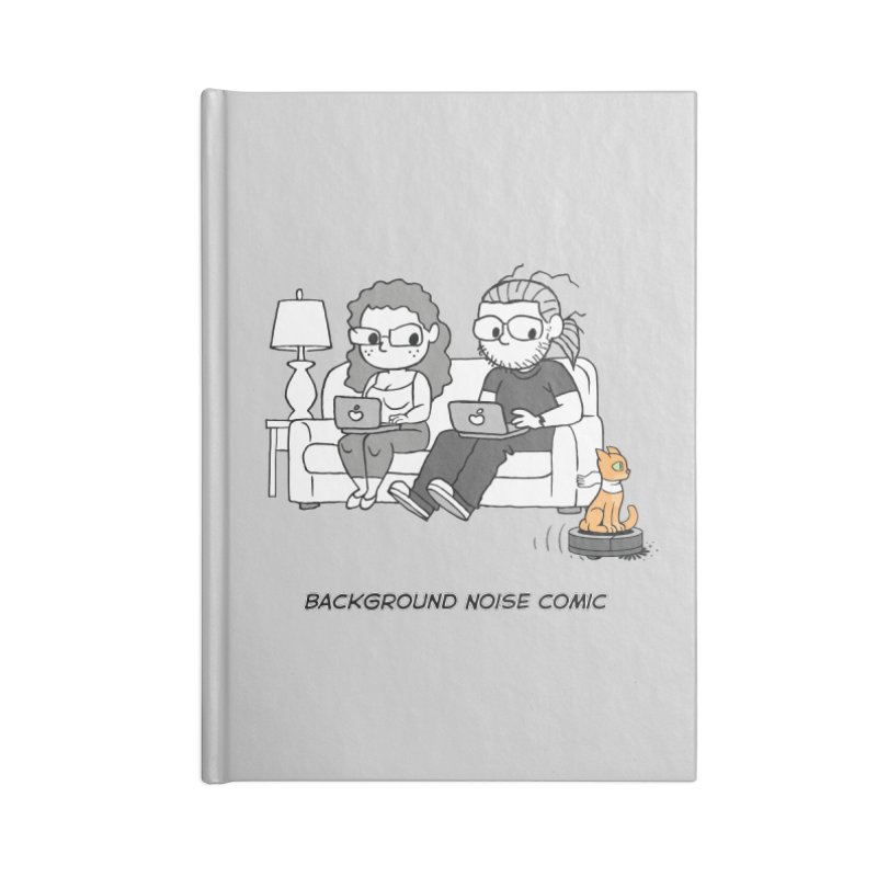 Background Noise Couch (with Danny Cat!) Accessories Lined Journal Notebook by Frankenstein's Artist Shop