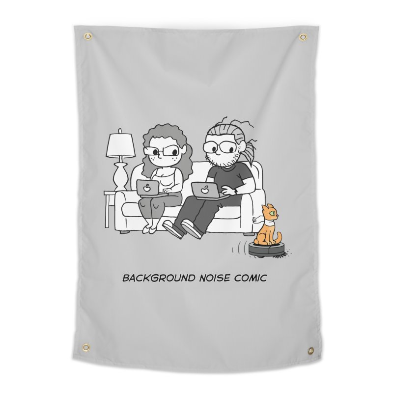 Background Noise Couch (with Danny Cat!) Home Tapestry by Frankenstein's Artist Shop
