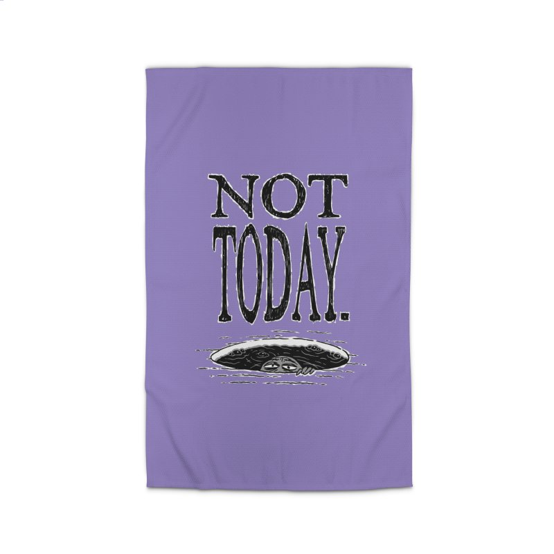 Not Today. Home Rug by Frankenstein's Artist Shop