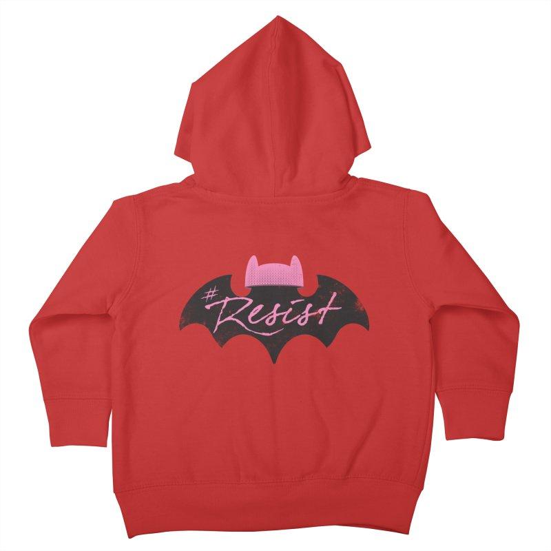 Pussy Bat (Resist!) Kids Toddler Zip-Up Hoody by Frankenstein's Artist Shop
