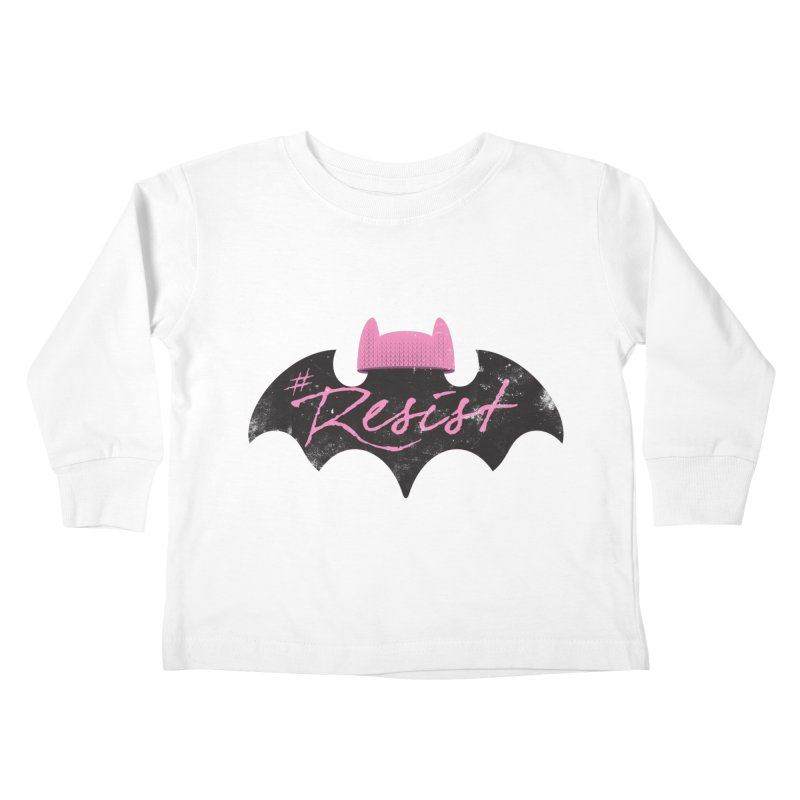 Pussy Bat (Resist!) Kids Toddler Longsleeve T-Shirt by Frankenstein's Artist Shop