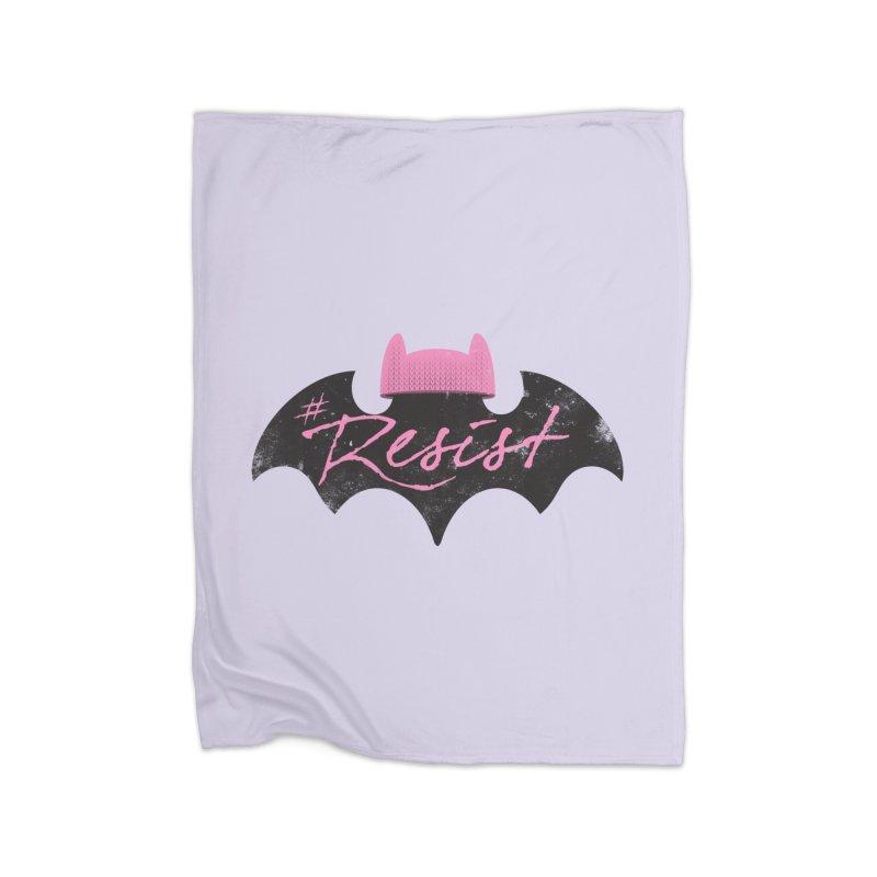 Pussy Bat (Resist!) Home Blanket by Frankenstein's Artist Shop
