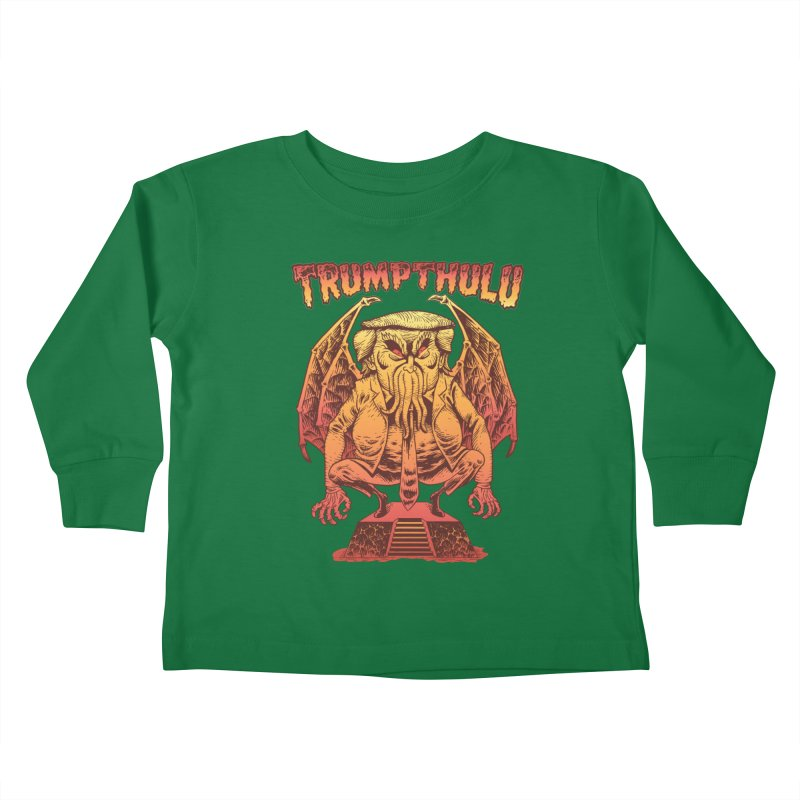 TRUMPTHULU Kids Toddler Longsleeve T-Shirt by Frankenstein's Artist Shop