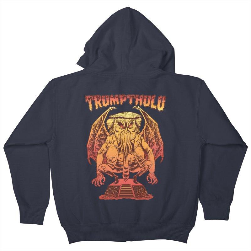 TRUMPTHULU Kids Zip-Up Hoody by Frankenstein's Artist Shop