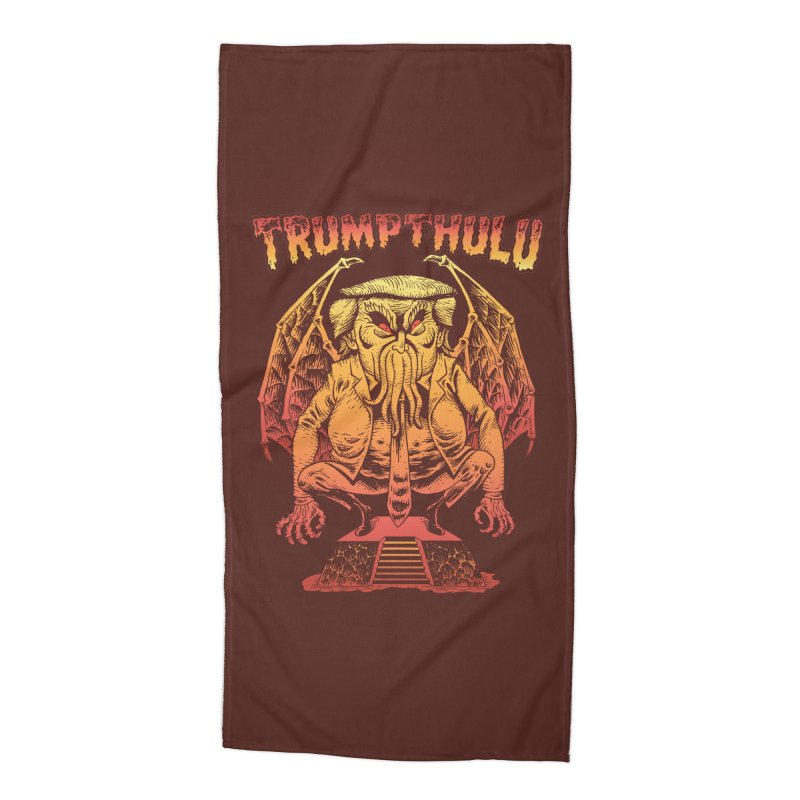 TRUMPTHULU Accessories Beach Towel by Frankenstein's Artist Shop