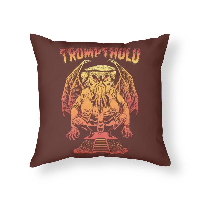 TRUMPTHULU Home Throw Pillow by Frankenstein's Artist Shop