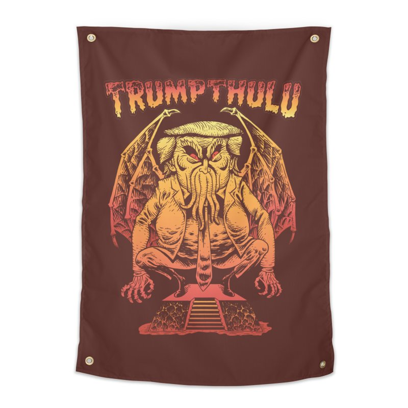 TRUMPTHULU Home Tapestry by Frankenstein's Artist Shop
