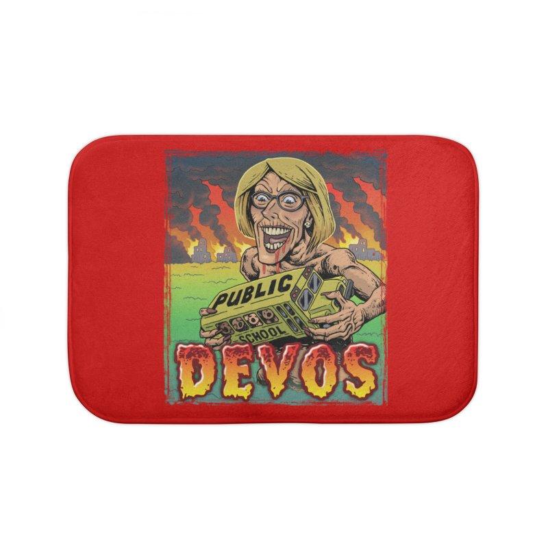 DeVos Monster (Attack on Education) Home Bath Mat by Frankenstein's Artist Shop