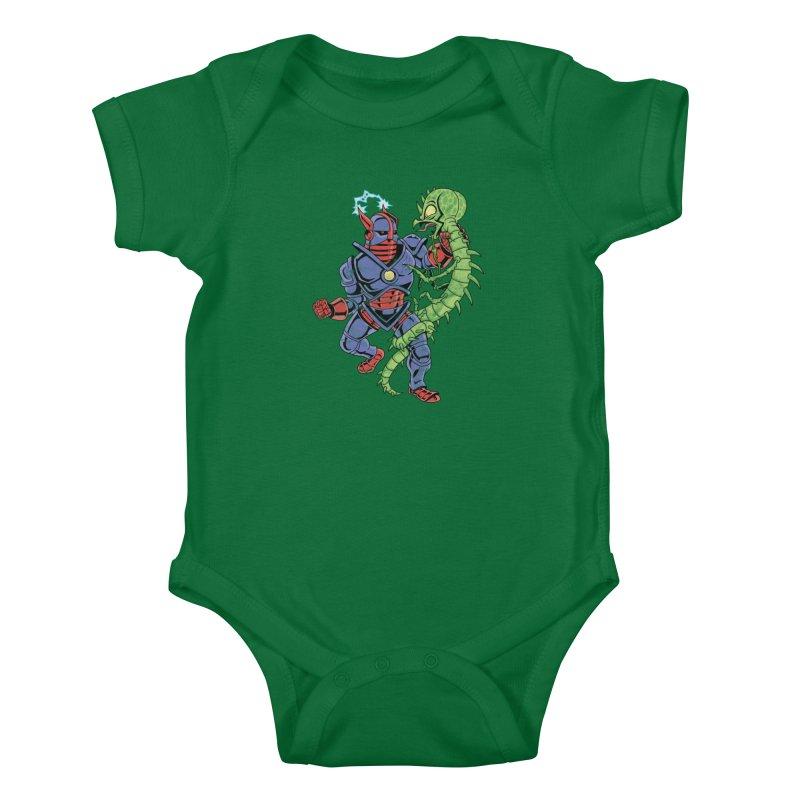 NEUTRO vs. SERPENTIPEDE Kids Baby Bodysuit by Frankenstein's Artist Shop