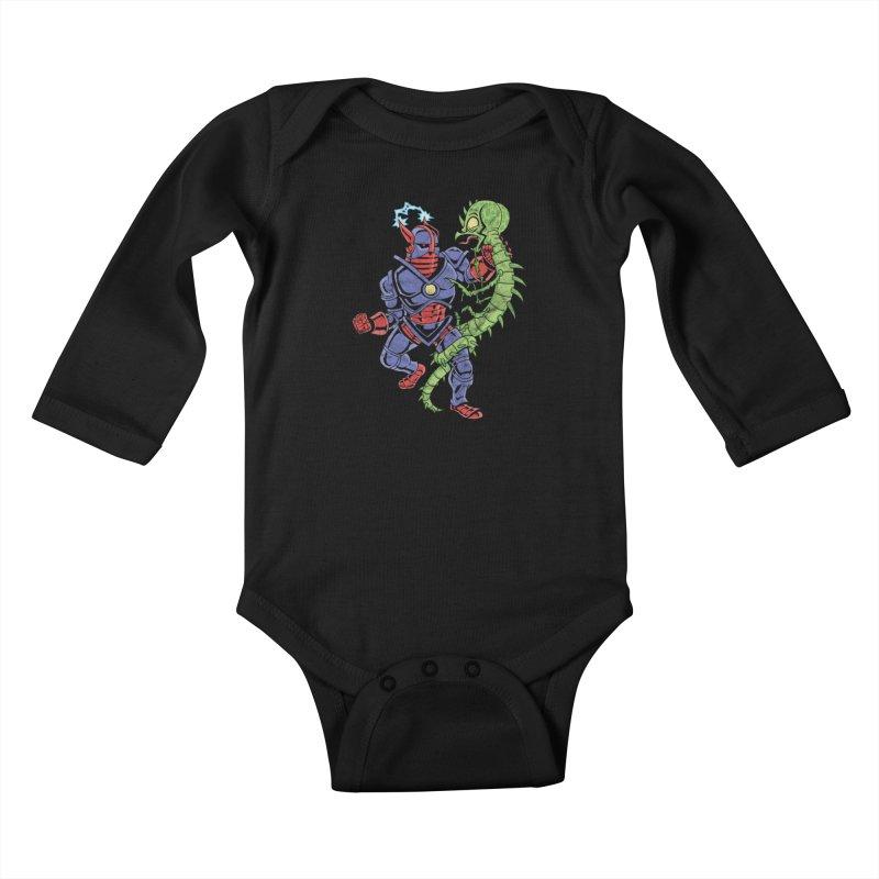 NEUTRO vs. SERPENTIPEDE Kids Baby Longsleeve Bodysuit by Frankenstein's Artist Shop