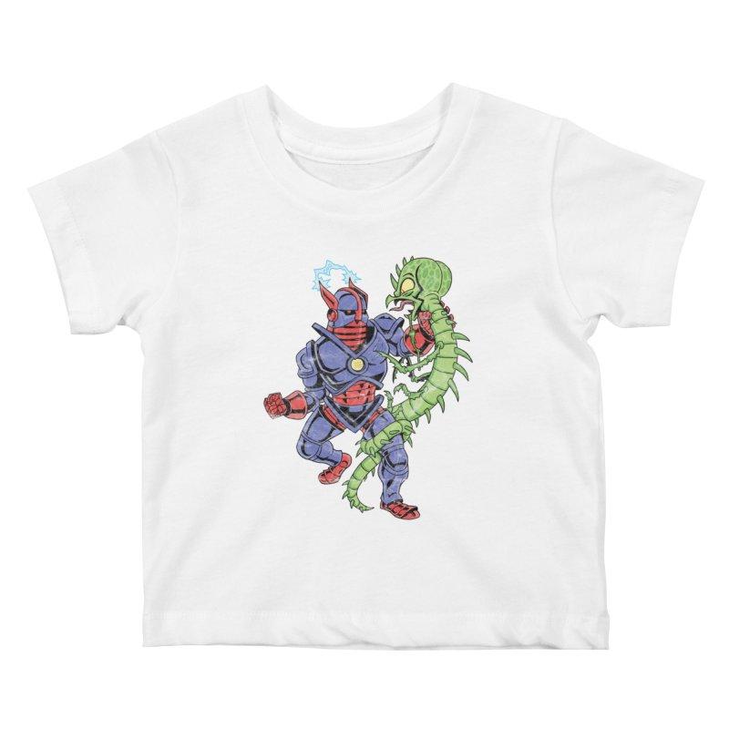 NEUTRO vs. SERPENTIPEDE Kids Baby T-Shirt by Frankenstein's Artist Shop