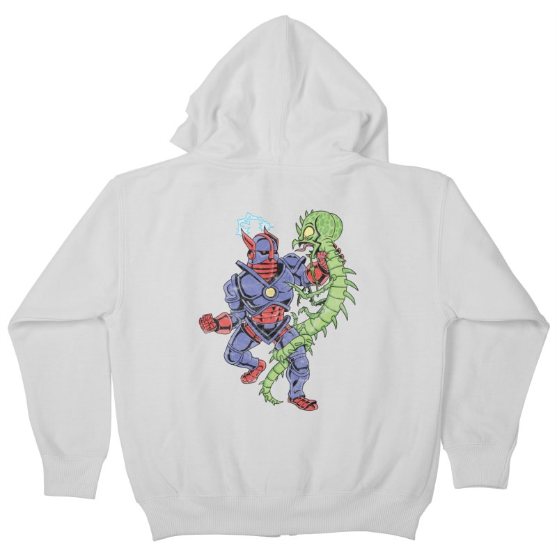 NEUTRO vs. SERPENTIPEDE Kids Zip-Up Hoody by Frankenstein's Artist Shop