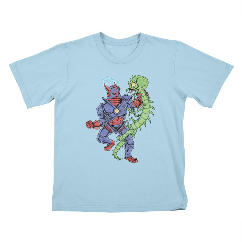 NEUTRO vs. SERPENTIPEDE Kids T-Shirt by Frankenstein's Artist Shop