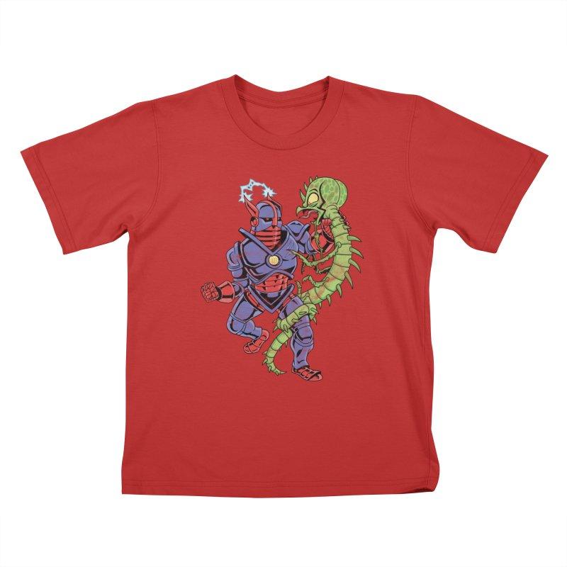 NEUTRO vs. SERPENTIPEDE Kids T-shirt by Frankenstein's Artist Shop
