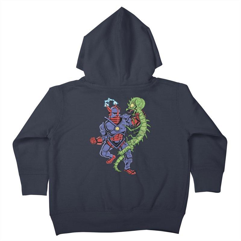 NEUTRO vs. SERPENTIPEDE Kids Toddler Zip-Up Hoody by Frankenstein's Artist Shop