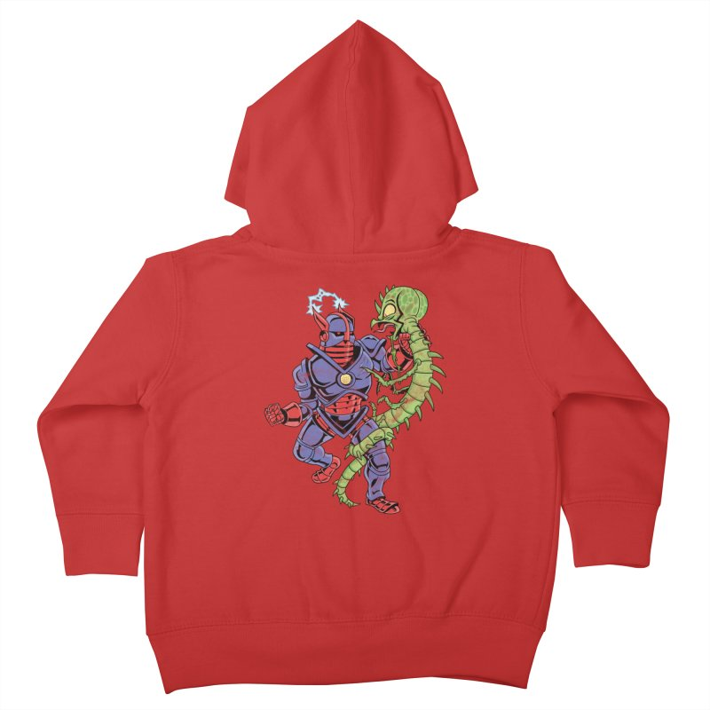 NEUTRO vs. SERPENTIPEDE Kids Toddler Zip-Up Hoody by Frankenstein's Artist Shop