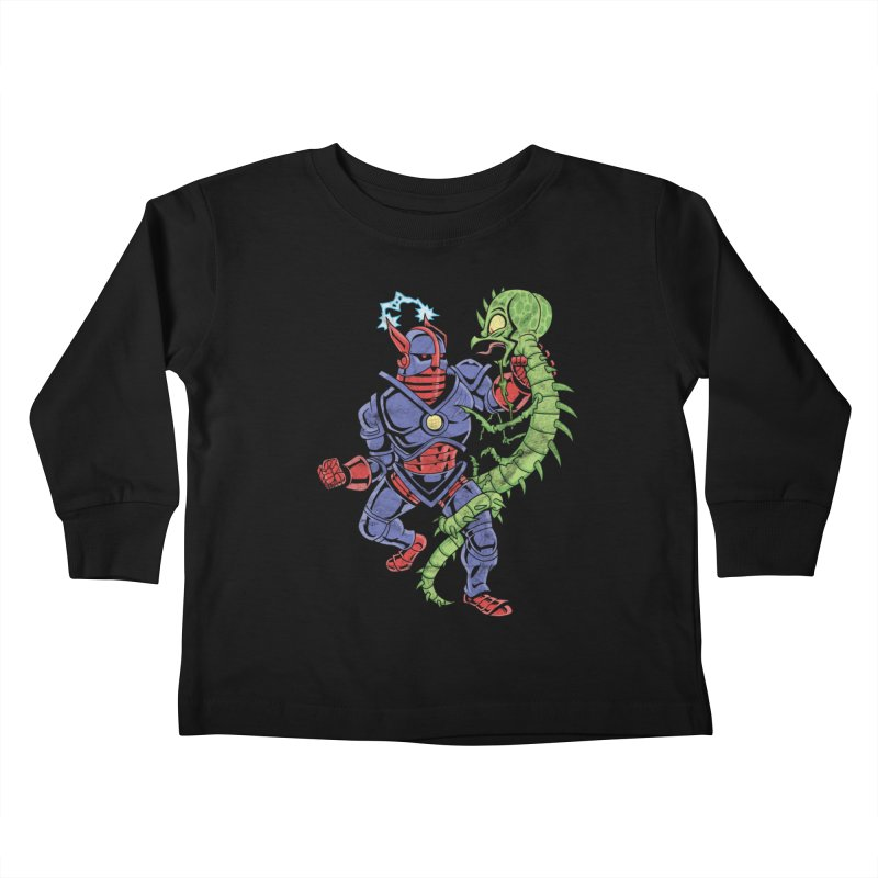 NEUTRO vs. SERPENTIPEDE Kids Toddler Longsleeve T-Shirt by Frankenstein's Artist Shop