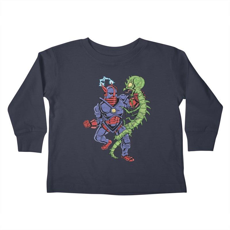 NEUTRO vs. SERPENTIPEDE Kids Toddler Longsleeve T-Shirt by Frankenstein's Artist Shop
