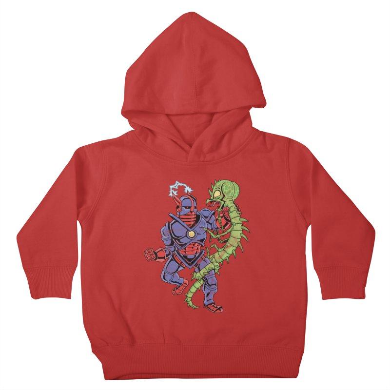 NEUTRO vs. SERPENTIPEDE Kids Toddler Pullover Hoody by Frankenstein's Artist Shop