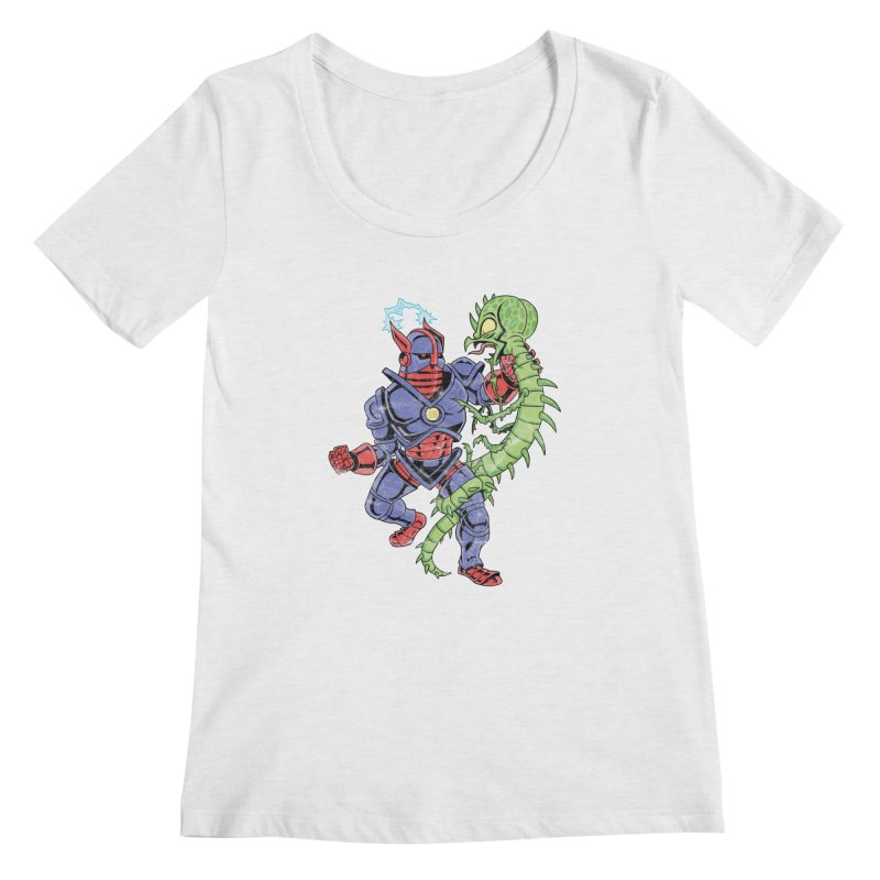 NEUTRO vs. SERPENTIPEDE Women's Regular Scoop Neck by Frankenstein's Artist Shop