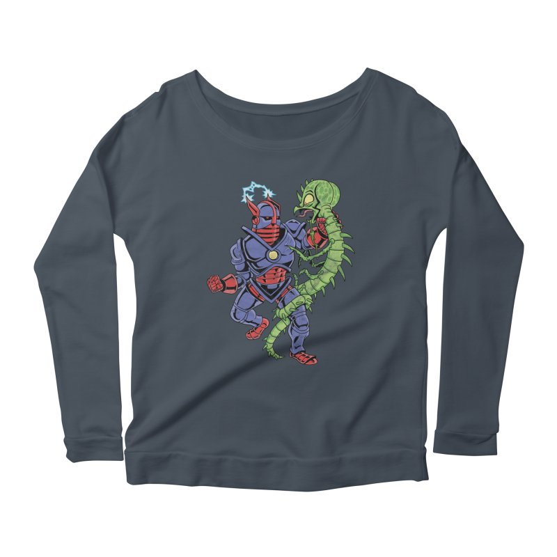NEUTRO vs. SERPENTIPEDE Women's Longsleeve Scoopneck  by Frankenstein's Artist Shop