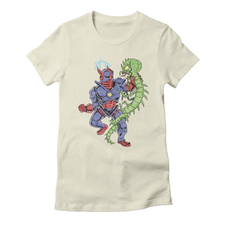 NEUTRO vs. SERPENTIPEDE Women's Fitted T-Shirt by Frankenstein's Artist Shop