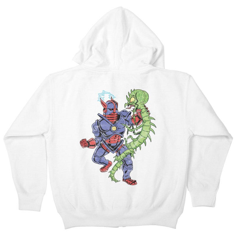 NEUTRO vs. SERPENTIPEDE Kids Zip-Up Hoody by Frankenstein's Artist Shop