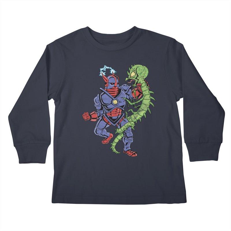 NEUTRO vs. SERPENTIPEDE Kids Longsleeve T-Shirt by Frankenstein's Artist Shop