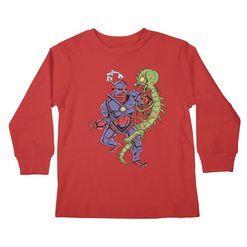 NEUTRO vs. SERPENTIPEDE Kids Longsleeve T-Shirt by Frankenstein's Artist Shop