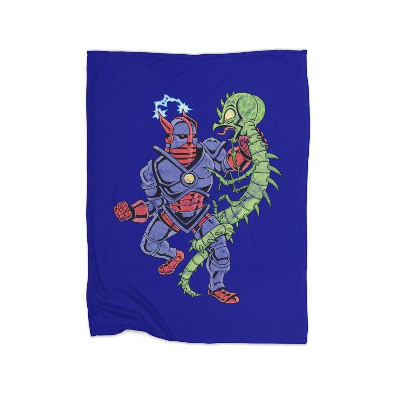 NEUTRO vs. SERPENTIPEDE Home Blanket by Frankenstein's Artist Shop