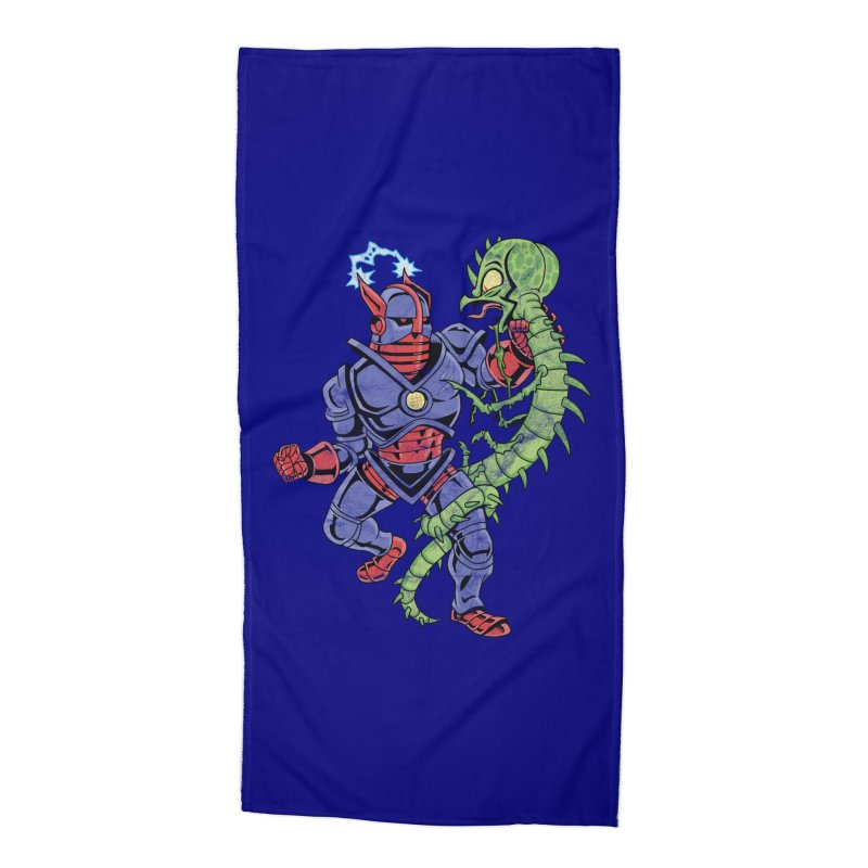 NEUTRO vs. SERPENTIPEDE Accessories Beach Towel by Frankenstein's Artist Shop