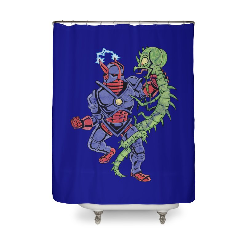 NEUTRO vs. SERPENTIPEDE Home Shower Curtain by Frankenstein's Artist Shop
