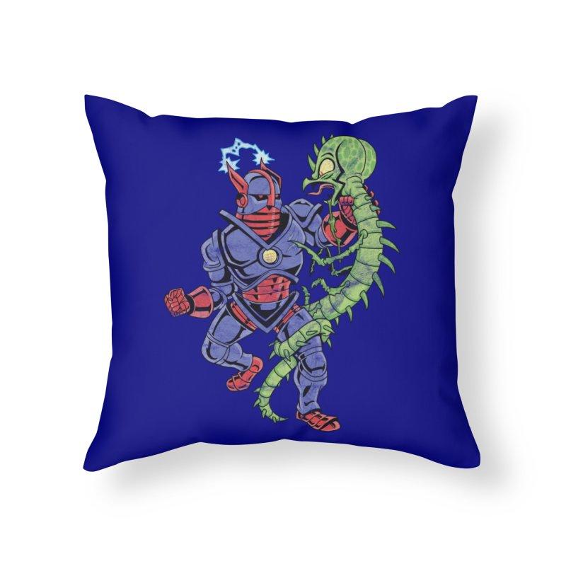 NEUTRO vs. SERPENTIPEDE Home Throw Pillow by Frankenstein's Artist Shop